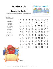 BearsInBeds Wordsearch 1